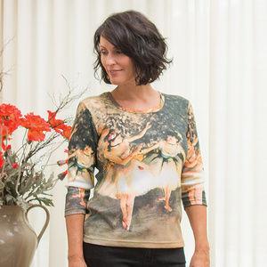 Tops - Degas' Dancers 3/4 Sleeve Shirt